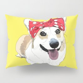 Political Pups - Register To Vote Corgi Dog Pillow Sham