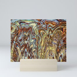 Scramble - Digital Abstract Expressionism Mini Art Print