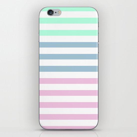 MULTI COLOR STRIPES iPhone & iPod Skin