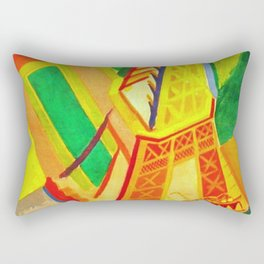 Eiffel Tower by Robert Delaunay - Vintage Painting Rectangular Pillow