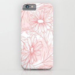 Pinky daisies iPhone Case