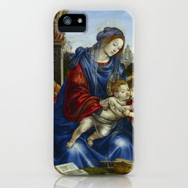 "Filippino Lippi ""The Holy Family with Saint John the Baptist and Saint Margaret"" iPhone Case"