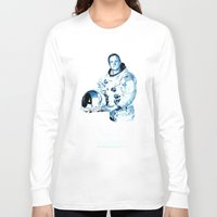 neil gaiman Long Sleeve T-shirts featuring Neil Armstrong Tribute by Largetosti