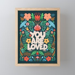you are loved - color garden Framed Mini Art Print
