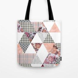 Pink Patterns Tote Bag