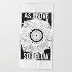 As Above, So Below - Zodiac Illustration Beach Towel