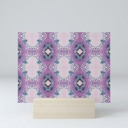Arabidopsis flower stem microscopy pattern pink Mini Art Print