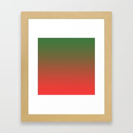 Green and Red Gradient 017 Framed Art Print