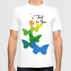 Just be you MEDIUM White Mens Fitted Tee