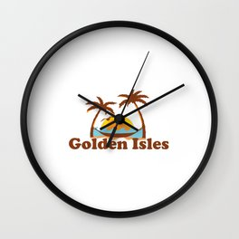 Golden Isles - Georgia. Wall Clock