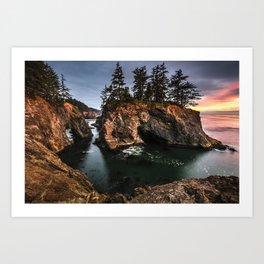 Natural Bridges Brookings Oregon Art Print