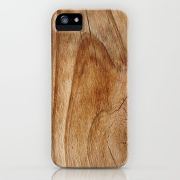 Natural Wood Texture for Wood Artworks Lovers. iPhone Case