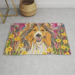 Sweet Summer Sheltie Rug