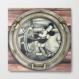 Steamboat Willie Metal Print