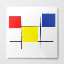 Colourful design squares Metal Print