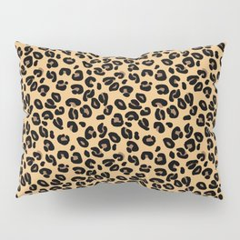 Classic Black and Yellow / Brown Leopard Spots Animal Print Pattern Pillow Sham