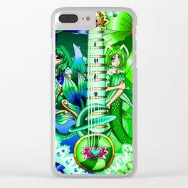 Sailor Mew Guitar #52 - Sailor Neptune & Mew Retasu Clear iPhone Case