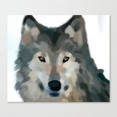 Wolf Painting Canvas Print