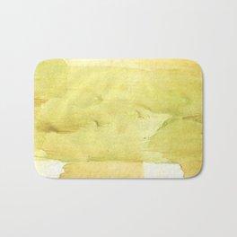 Yellow green watercolor Bath Mat