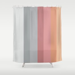 Transparent rainbow Shower Curtain