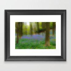 Bois de Halle Bluebells Framed Art Print
