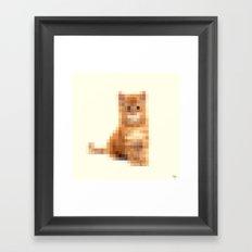 Censored Cat Framed Art Print