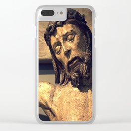 Crucified Christ Clear iPhone Case
