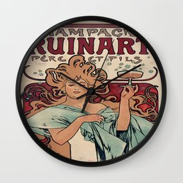 Vintage poster - Champagne Ruinart Wall Clock