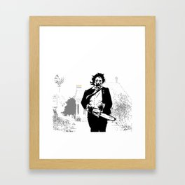 Leatherface protector of the queer Framed Art Print