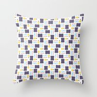 writing Throw Pillows featuring Reading & Writing by Sebastián Guha
