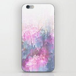 Magical Nature - Glitch Pink & Blue iPhone Skin