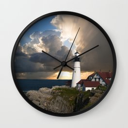 Lighthouse of New England Wall Clock