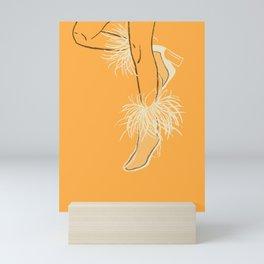 Feather Boots Mini Art Print
