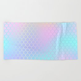 Rainbow Mermaid Abstraction Beach Towel