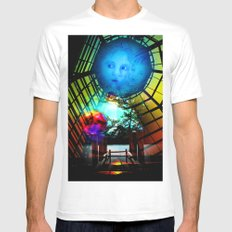 Show me the world Mens Fitted Tee MEDIUM White