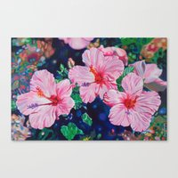 hibiscus Canvas Prints featuring Hibiscus by Morgan Ralston