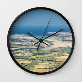 Aerial Views over North Cornwall - Padstow and Rock Wall Clock