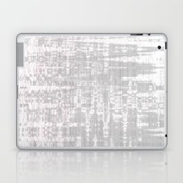 Greyish dirty and wavy look on white pavement Laptop & iPad Skin