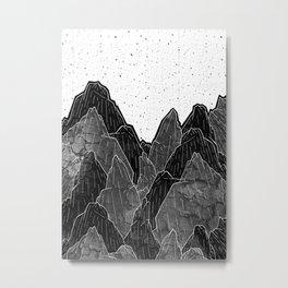 Dark Moon Mounts Metal Print