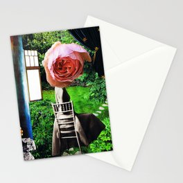 garden seat - collage Stationery Cards