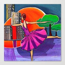 Dreams of the big city remix 2 Canvas Print