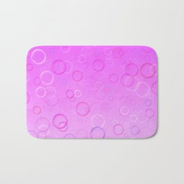 Colorful bubbles on a pink background. Bath Mat