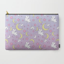 Bunny Pattern Carry-All Pouch