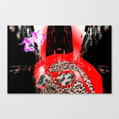 looking at a little pink city angel Canvas Print