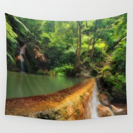 Thermal pool in Azores Wall Tapestry