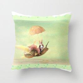 Cedric and the Golden Snail Throw Pillow
