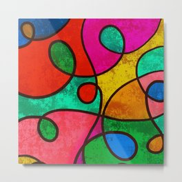 Swirly Abstract Metal Print