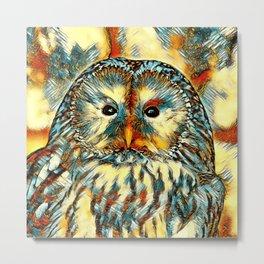 AnimalArt_Owl_20170922_by_JAMColorsSpecial Metal Print