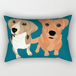 Cleo and Ginger Rectangular Pillow