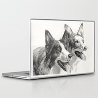 border collie Laptop & iPad Skins featuring Border Collie by Ruben Pino